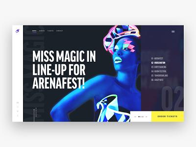 Comit Events page webdesign homepage concept music landingpage sketch web website design ui ux