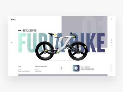 Artblog website - Furia bike ux ui design website web minimal sketch landingpage blog