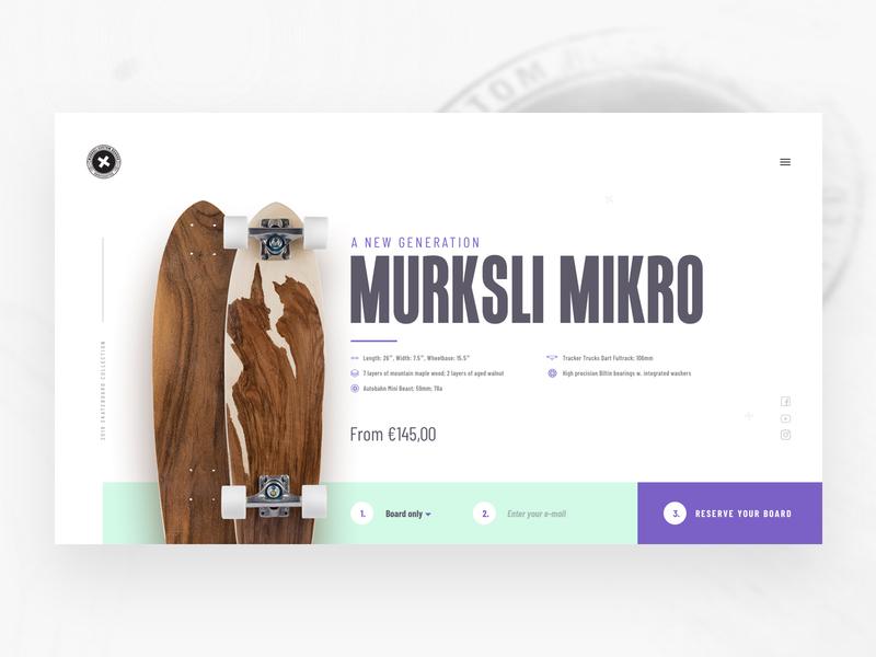 Murksli boards landingpage concept clean flat landingpage sketch web minimal website design ux ui