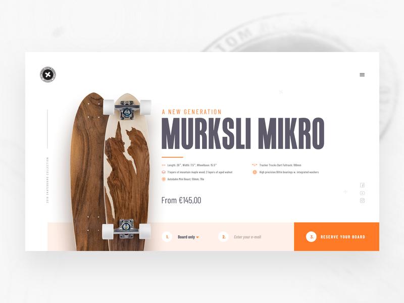 Murksli boards landingpage site concept clean flat landingpage sketch minimal web website design ux ui