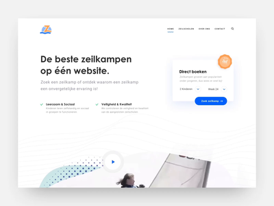 Zeilscholen redesign webflow animation clean flat landingpage minimal web website design ux ui