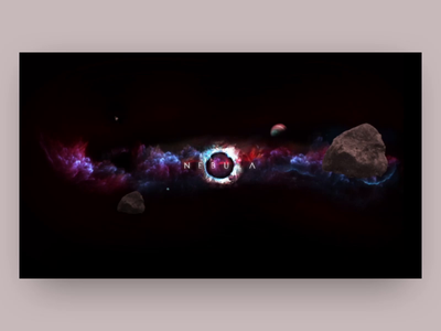 Nebula galaxy intro animation after effects animation after effects animation app web website design ux ui