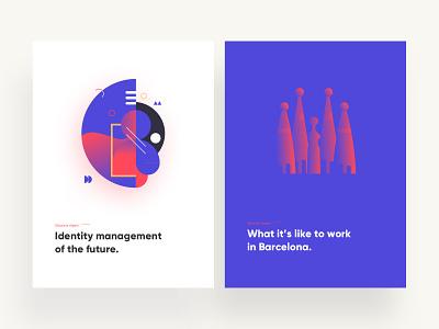 Elements Digest experiment design illustration minimal digest branding book article