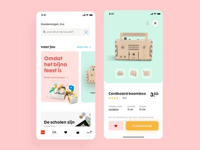 HEMA mobile app concept