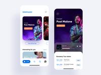 Ticketmaster mobile app ios clean mobile app minimal design ux ui