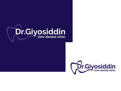 Dr. Giyosiddin logo medical dental branding illustration design doctor logo