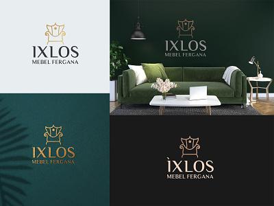 Ixlos  Luxury Furniture Brand Logo Design branding luxury vector illustration furniture logo design