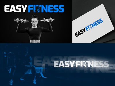 EASY FITNESS (LOGO DESING) sports easy typography illustration design vector fitness branding logo graphic design