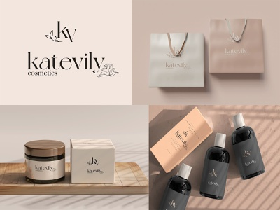 KV KATEVILY COSMETIC (LOGO DESIGN) product beauty graphic design vector illustration design logo cosmetic
