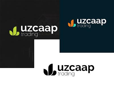 UZCAAP TRADING (LOGO DESIGN) graphic design vector illustration design branding logo trading uzcaap