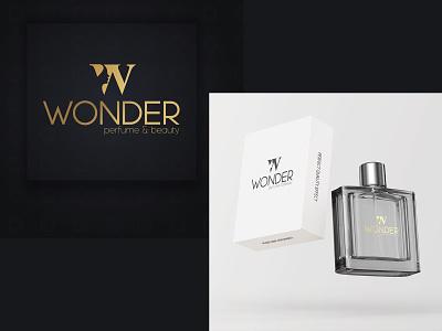 WONDER PERFUME & BEAUTY (LOGO DESIGN) product beauty perfume wonder graphic design vector design illustration branding logo