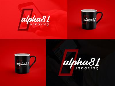 Alpha81 Unboxing (Logo Design) unboxing 81 alpha graphic design illustration vector design branding logo