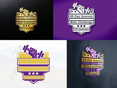 60 Day Summer (Logo Design) fitness bootcamp summer mockup graphic design illustration vector design branding logo