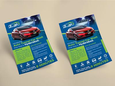 CAR & CARE (FLYER DESIGN) printing printmedia poster care car flyer graphic design design