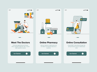 Onboarding Screen download yellow green app ui design clean design ui design typography product design mobile app ui hospital app medical app onboarding illustration onboarding screen onboarding user experience user interface ui  ux uiux ui