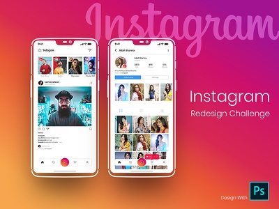 Instagram redign challenge photography instagram post instagram template mobile app design mobileapp mobile app mobile ui photoshop instagram redesign mobileappdesign