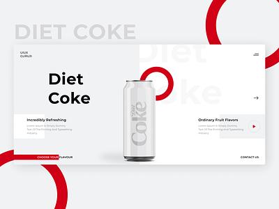 Diet Coke ui design illustrator creative template illustration creative uiux design uiuxguruji website banner web banner banner diet coke web design webpage