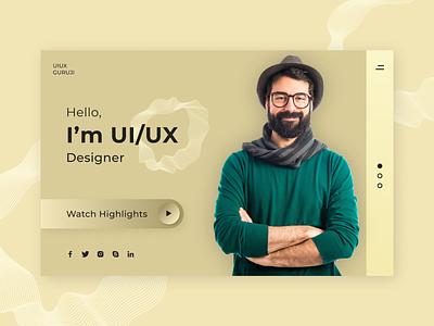Designer Banner Design with Utsav Parekh branding website design banner design uiuxguruji webpage banner figma design figma ui illustration web design creative template creative