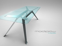 X-wing Table design (titanium & blue)