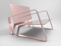 Copper one-sheet chair