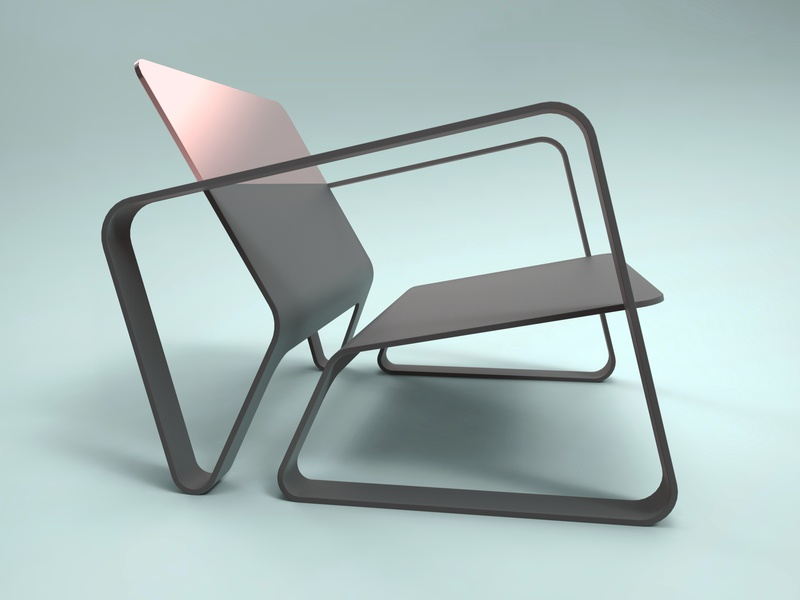 OSC-Chair visualisation product presentation copper pink designer keyshot chair design modipow furniture render product design chair