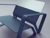 OSC- chair blue Silver