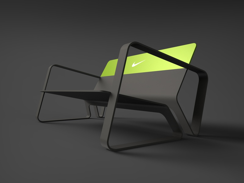 Nike Bench runner sport sporty concept design product design black shoe chair bench nike