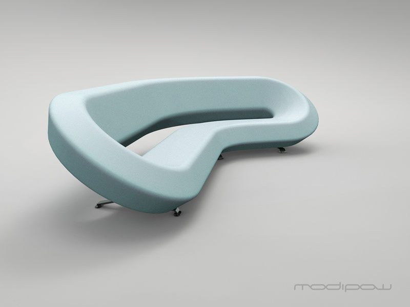 Modipow lab couch colour: light aqua industrial design render modipow keyshot furniture design product presentation rendering product design sofa couch