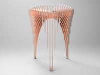 Rose 'waterfall' stool
