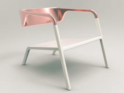 Lounge chair design renderen render product design copper furniture design chair