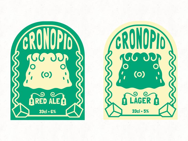 Cronopio Cronopio? logodesign brewery label character beer branding brand visual identity logo