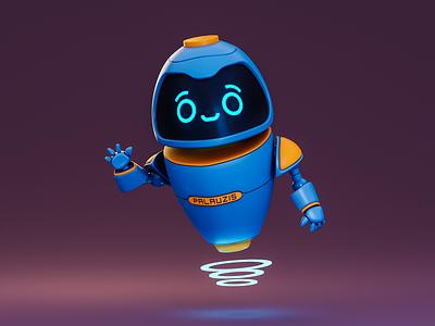 Little detective robot render character design character 3d blender3d detective robot