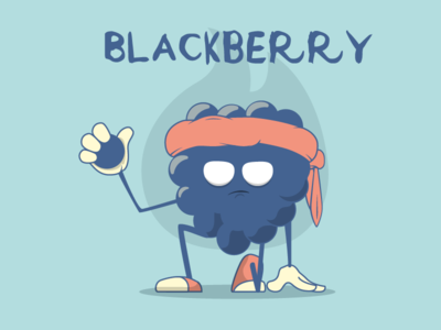Blackberry rogue blackbery angr vector food character