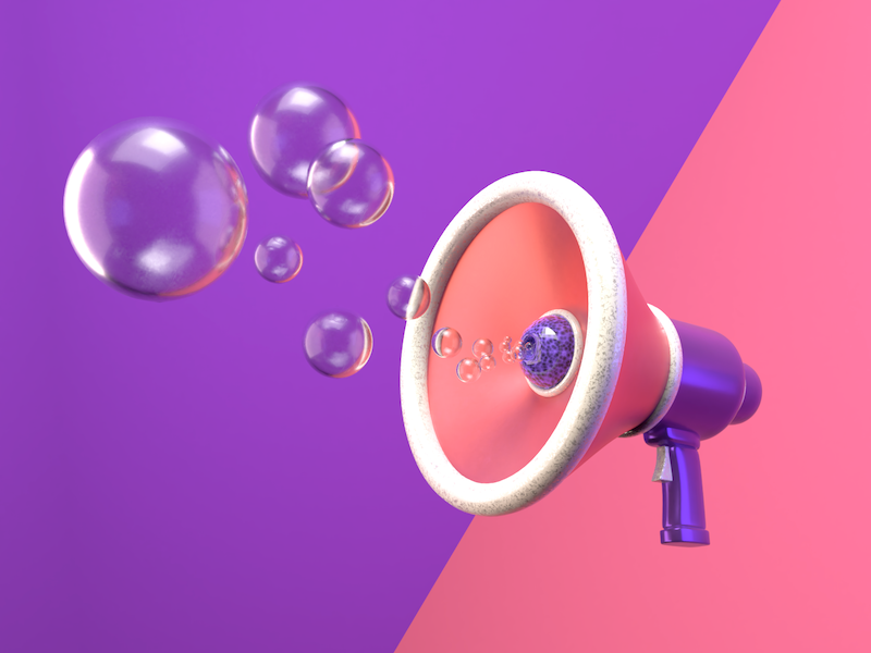 Nothing To Say just for fun megaphone blender3d things blender just