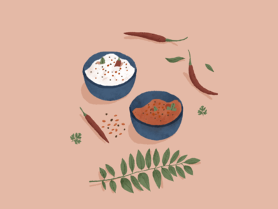 Chutney lovers hello dribbble flat illustration dribbble web illustration adobe photoshop indian dribbleartist dribble invite indian illustration photoshop illustration food illustration illustration digital illustration digital art