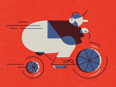 Rally design print vector illustration arnol 2d cycling rally silkscreen
