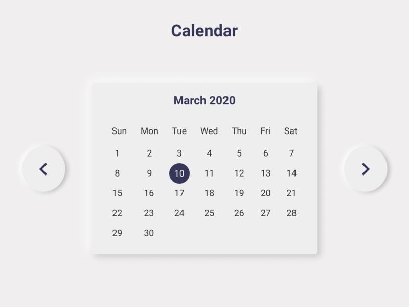 Calendar #dailyui #038 web figma ui ux design lightui softui dailyui 038 dailyui calendar