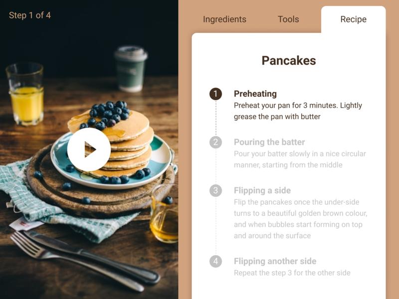 Recipe web ui design figma dailyui 040 dailyui pancakes food recipe