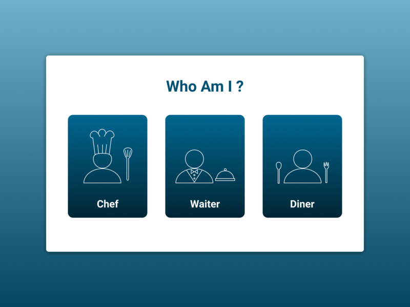 Select User Type icon drawing diner waiter chef restaurant ux ui figma dailyui 064 dailyui select user type