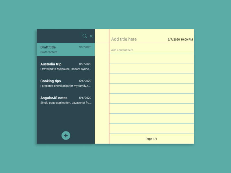 Notes Widget notebook pages web design figma ux ui notes dailyui 065 dailyui notes widget