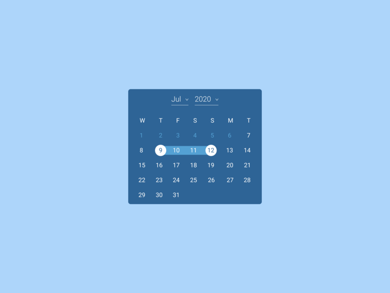 Date Picker web ux ui figma design dailyui 080 dailyui date selector date picker