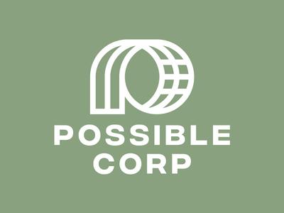 POSSIBLE planet globe global green world earth wordmark logo possible