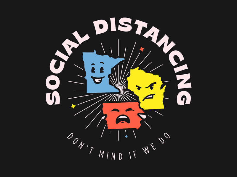 Social Distancing for Charity midwest iowa wisconsin minnesota covid19 type mascot social
