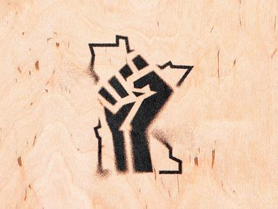 10,000 Fists logo hand line fist