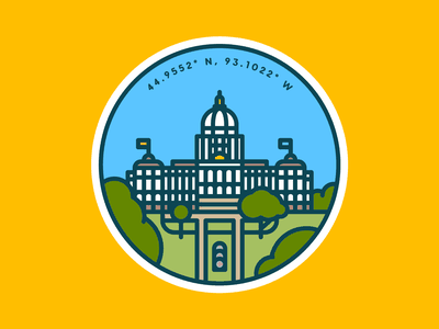 State Capitol state capitol capitol st paul mn outline lineart color lawn building minnesota government line illustration