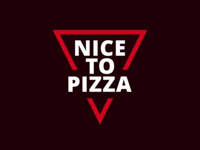 Nice To Pizza food line typography slice mark logo pizza