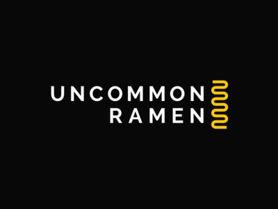 Uncommon Ramen restaurant food typography icon type line logo noodles ramen
