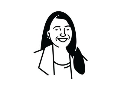 Fran Hauser avatar fast company portrait line illsutration