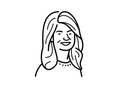 Nicole Eagan line fast company portrait illustrator illustration