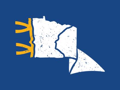 Minnesota Pennant wave flag mark mn minnesota pennant